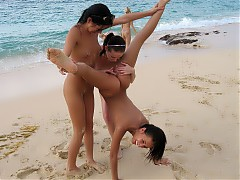 Female assholes that can be seen on nudist beach