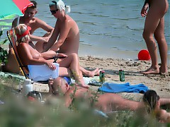 Naturists like to get naughty and have public sex when they're not relaxing without any clothing on