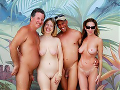 Public nudism with common people